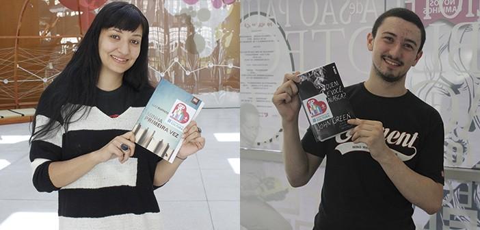 Tamires Machado (BVL) e Rogério Martins (BSP) aceitaram o desafio e acharam os livros nas bibliotecas estaduais.