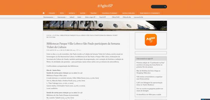 Bibliotecas Parque Villa Lobos e São Paulo participam da Semana Ticket de Cultura –  AgitoSP