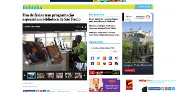 Fim de férias tem programação especial em biblioteca de São Paulo   28 01 2016   Folhinha   Folha de S.Paulo