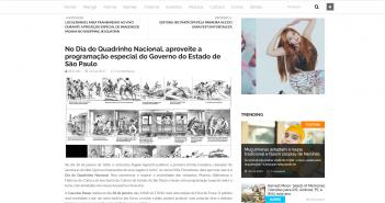 No Dia do Quadrinho Nacional aproveite a programação especial do Governo do Estado de São Paulo Suco de Mangá