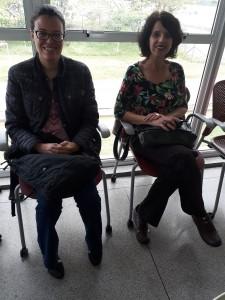 A bibliotecária Eva Dutra e Célia Gillio, da Fundação Dorina Nowill. Foto: Equipe SP Leituras