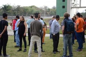 Dinâmica entre residentes e equipes. Foto: Equipe SP Leituras