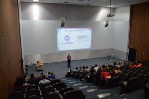 Palestra sobre Acessa Campus com Melissa Godoy, da Prodesp. Foto: Equipe SP Leituras