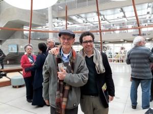 Pai e filho, Paulo Celso e Fernando Vilela. Foto: Equipe SP Leituras.