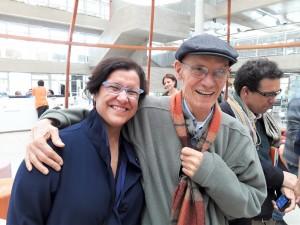 Stela Barbieri e Paulo Celso, pai de Fernando. Foto: Equipe SP Leituras.
