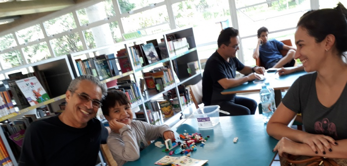 Edes, Lucas e Camila. Foto: Equipe SP Leituras.