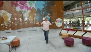 Calor Tramontina, apresentador do Programa Antena Paulista / TV Globo / Reprodução