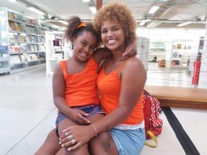 Luiza e a mãe Verônica