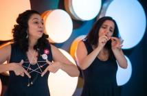 Mirela Estelles e Amarillis Reto. Foto: Agência Ophelia - Itaú Cultural.