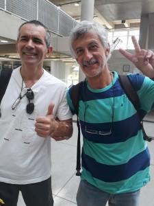 Osvaldo e Kiko. Foto: Equipe SP Leituras.