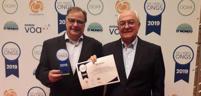 Pierre André Ruprecht e Miguel Gutierrez, respectivamente, diretor executivo e diretor administrativo-financeiro da SP Leituras. Foto: Equipe SP Leituras.
