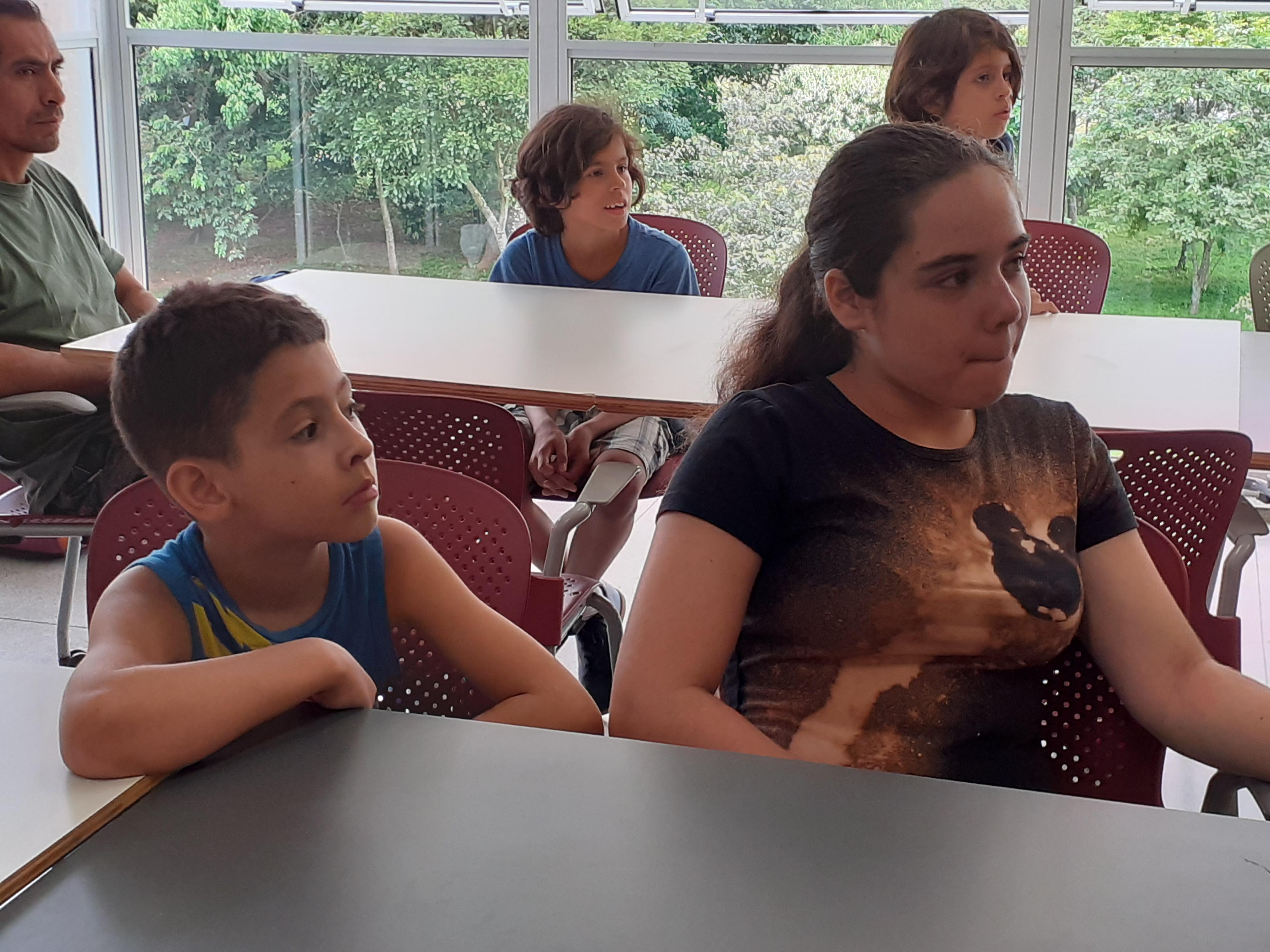 Luan e Giovanna. Foto: Equipe SP Leituras.