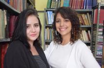 Naiara e Stefhanie, criadoras do Coletivo EscreViver. Foto: Allan Yona.