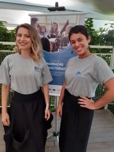 Sandra e Lili, da organização Arte Despertar. Foto: Equipe SP Leituras.