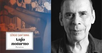 """O escritor Sérgio Sant'Anna e seu último livro publicado, """"Anjo noturno"""". Foto Montagem/ Divulgação"""