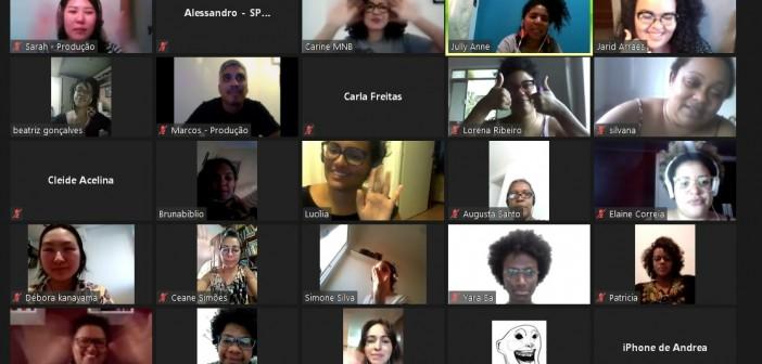 Clube de Leitura Mulheres Negras na Biblioteca, na BVL, com Jarid Arraes. Foto: Reprodução