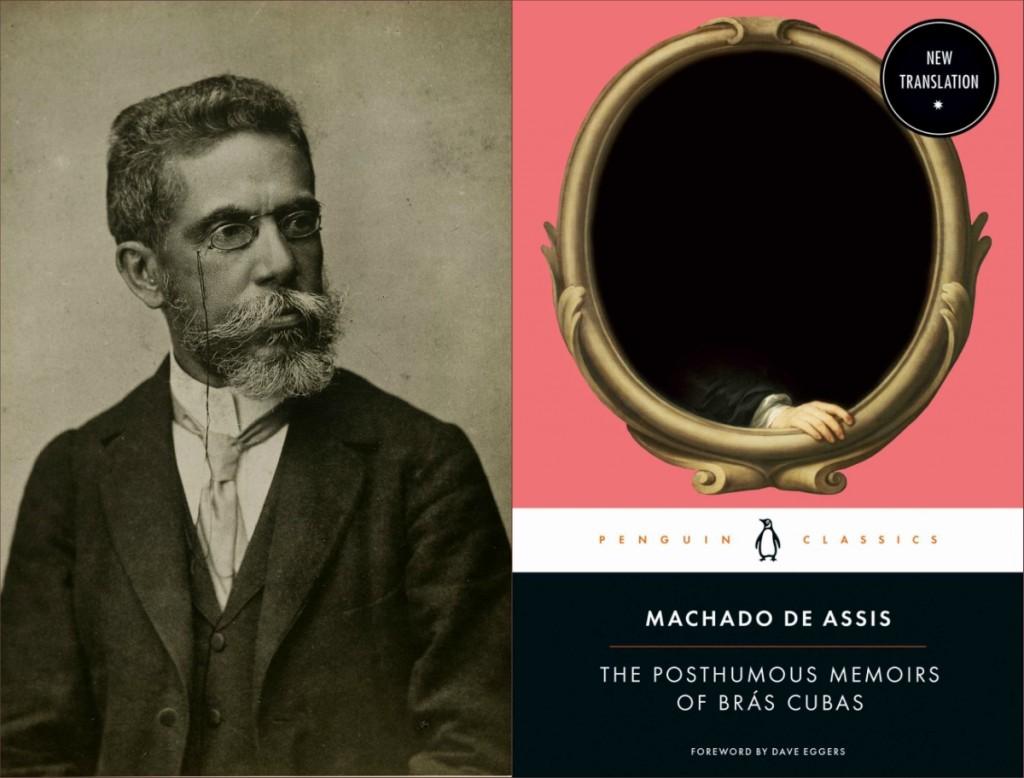 """Machado de Assis aos 57 anos e a capa da nova edição em inglês de """"Memórias Póstumas de Brás Cubas"""". Foto: Montagem/ Divulgação"""