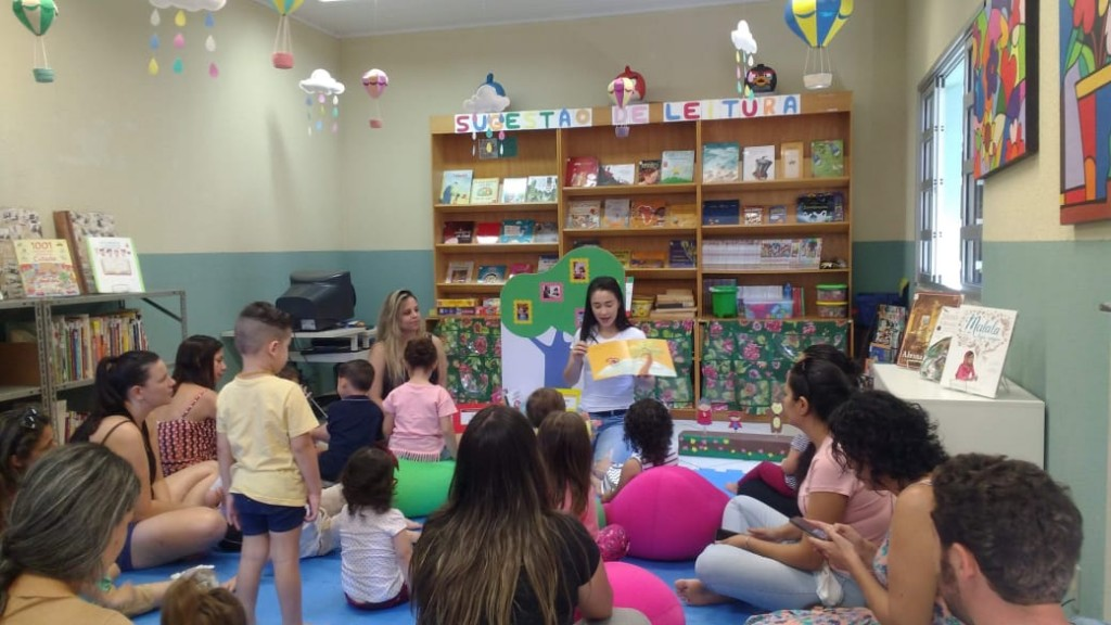 Lê no Ninho na Biblioteca Pública de Itapetininga. Foto: Talita Floriano