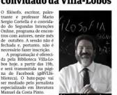 Bate-papo com Mario Sergio Cortella ganha espaço em jornais da capital