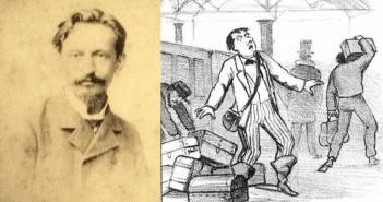 Angelo Agostini (1843-1910) e sua mais famosa criação,o personagem Nhô Quim. Foto: Montagem/ Pires/Reprodução